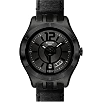 Swatch In a Stately Mode Black PVD Stainless Steel Mens Watch YTB400
