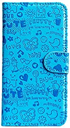 Purple Eyes ABC Artificial Leather Flip Cover Case For Samsung Galaxy Note 3 Neo (Blue)