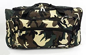 26 Camouflage Army Camo Wheeled Holdall Travel Cabin Gym Camping Bag Case Army Greenarmy Grey Army Green