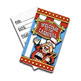 Pack of 8 - Under The Big Top Carnival Invitations - Includes 8 Invitations, 8 Envelopes