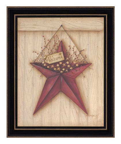 The Craft Room Mary 268 Welcome Barn Star, Eleven by Fourteen Inch Rustic Shaker Framed Print by Mary June