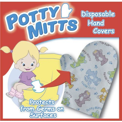 Potty Mitts - Disposable Hand Covers for kids - 12 pack - 1
