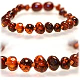 Certified Baltic Amber Teething Necklace for Baby (honey) - Anti-inflammatory