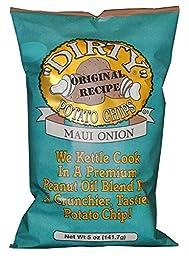 Dirty Kettle Chips Bag, Maui Onion, 5 oz., 12 Piece