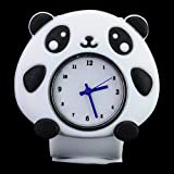 Stylish Slap-on Adorable Panda-shaped Dial Silicone Quartz Wrist Watch with Removable Watchband - White