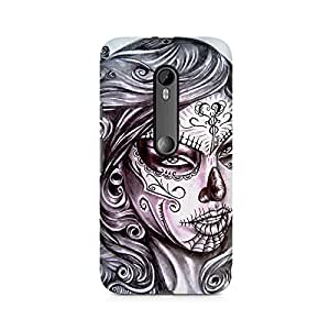 Mobicture Girl Art Premium Printed Case For Moto X Play