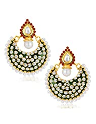 Sukkhi Blossomy Gold Plated Australian Diamond Dangle & Drop Earrings For Women