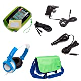 Ultimate Addons UK Boys Travel Bag Bundle for LeapFrog LeapPad 2, including case, mains adapter, car adapter, 5 metre extender, headphones and screen protectors