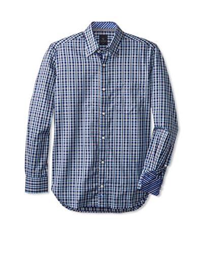 TailorByrd Men's Nicholi Check Long Sleeve Shirt
