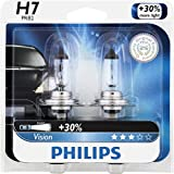 Philips H7 Vision Upgrade Headlight Bulb (Pack of 2)