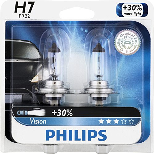 Philips 12972Prb2 H7 Vision Headlight Bulb, (Pack Of 2)