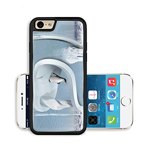 Luxlady Premium Apple iPhone 6 iPhone 6S Aluminium Snap Case Illustration of an impossible two tiered penguin playground IMAGE ID 7977896