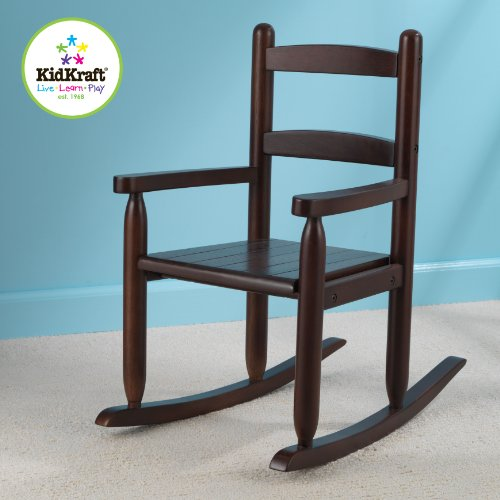 KidKraft 2 Slat Rocking Chair Espresso Furniture Chairs Chairs