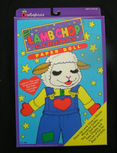 1993 Shari Lewis Lamb Chop & Friends Paper Doll Colorforms