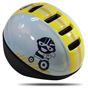 Knucklehead Lil' Runt Bicycle Helmet, Blue/Yellow, Toddler