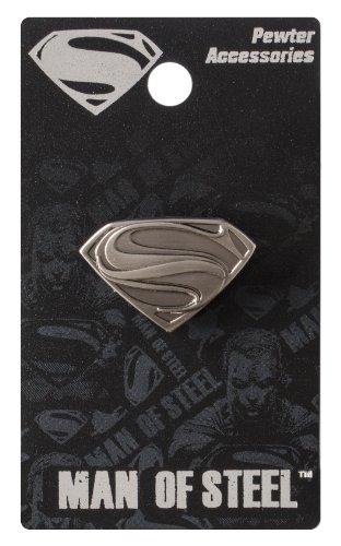 DC Superman Man of Steel Logo Pewter Lapel Pin