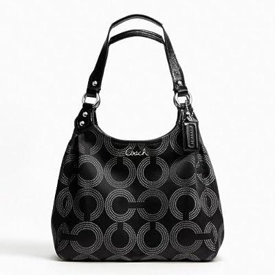 Coach Ashley Dotted OP Art Hobo Tote Handbag