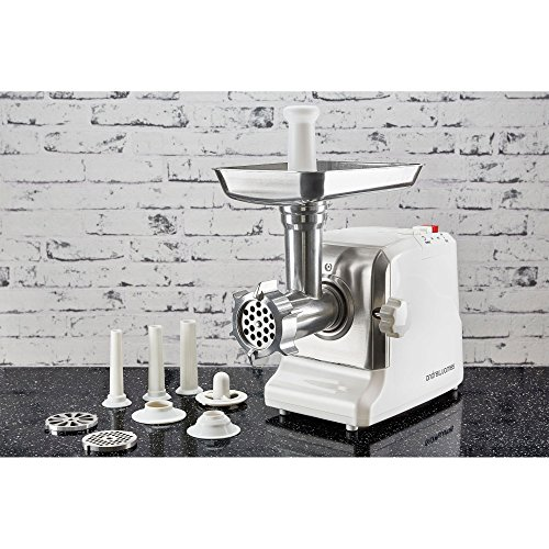 Andrew James Premium Electric Meat Mincer Grinder and Sausage Maker Powerful 1800 Watt Copper ...