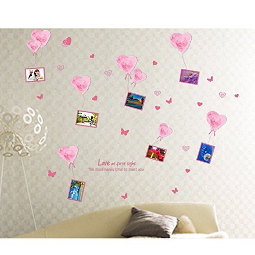 coffled-love-heart-ballon-photo-frame-wall-decal-stickerscolorful-rich-design-wall-decoration-for-be