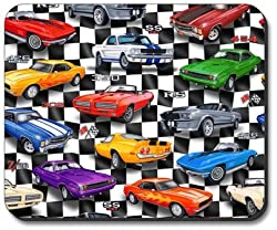 Muscle Cars Mouse Pad - By Art Plates '