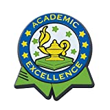 Academic Excellence Colorful Economy Pin (Set of 100) (Color: Blue, Green, Yellow, Silver, Tamaño: .875