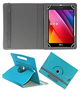Acm Rotating 360° Leather Flip Case For Asus Zenpad 7.0 Tablet Stand Cover Holder Greenish Blue