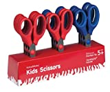 SchoolWorks 5 Inch Squishgrip Pointed-tip Kids Scissors, Classpack of 12 (105580-1003)