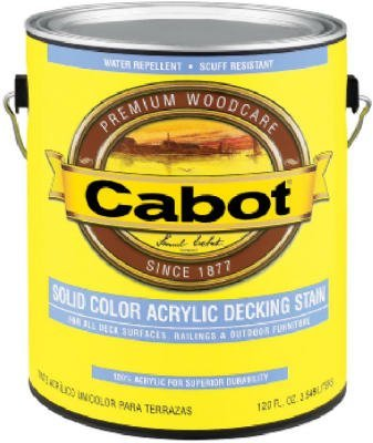 CABOT STAIN 41808 MEDIUM BASE SOLID COLOR DECKING STAIN WITH SURFACE PROTECTOR SIZE:QUART. (Decking Paint compare prices)