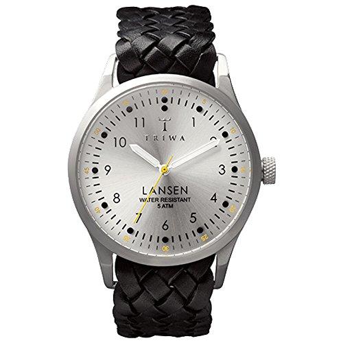 triwa-stirling-lansen-wrist-watch-w-braided-leather-band-black