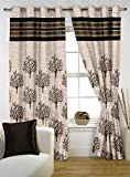 Story@Home 1 PC Jacquard Eyelet Window Curtain Rintop, 5 ft Black