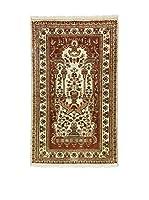 L'EDEN DEL TAPPETO Alfombra Kashmirian F/Seta Marrón/Multicolor 92 x 152 cm