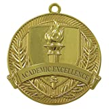 Academic Excellence Gold Medal (Set of 50) (Color: Gold, Tamaño: 1.75