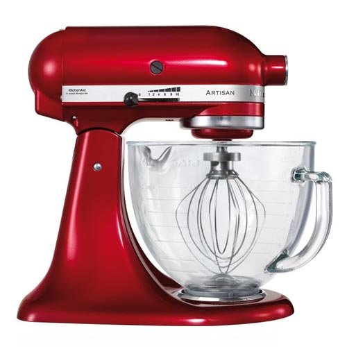 KitchenAid Artisan Mixer, Candy Apple Glass Bowl