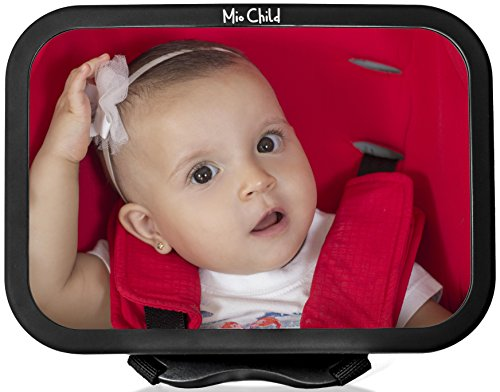 Baby Car Mirror - Perfect View of Your Infant in the Rear Facing Car Seat - Adjustable, Convex, Safe - By Mio Child