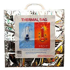 Reusable Hot and Cold Food Storage Bag Thermal Bag Set of 5 for Picinics, Boating or Beach Outings19.25 x 19.25 Inches
