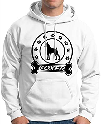 I Love my Boxer Dog Bone Hoodie Sweatshirt