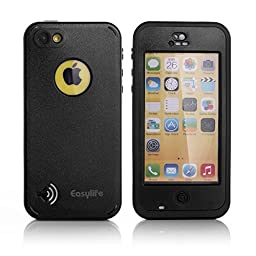 "Waterproof iPhone 5c Case, Easylifeâ""¢ Waterproof Dirtproof Snowproof Shockproof Skin Hard Phone Shell with Rugged Protection for Apple iPhone 5c (Black)"