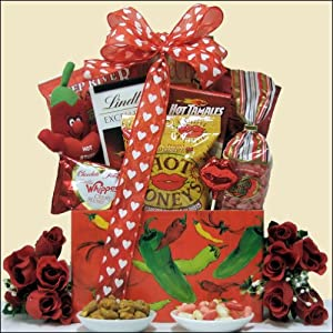 Hot Stuff Valentines Day Hot Spicy Gourmet Gift Basket by GreatArrivals Gift Baskets