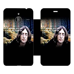 Skintice Designer Flip Cover with Vinyl wrap-around for Microsoft Lumia 640 XL , Design - End Quote