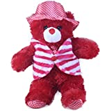 Tickles Red Cool Teddy With Jacket Stuffed Soft Plush Toy 36 Cm