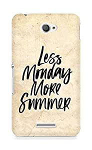AMEZ less monday more summer Back Cover For Sony Xperia E4