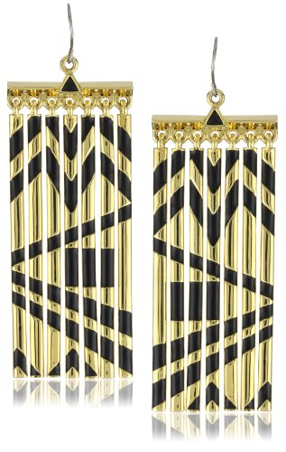 House of Harlow 1960 Metal Fringe Earrings