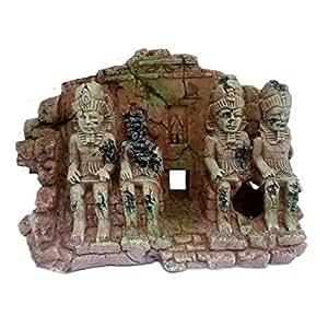 Aquarium ornament aztec ruin aquarium decoration amazon for Aquarium decoration uk