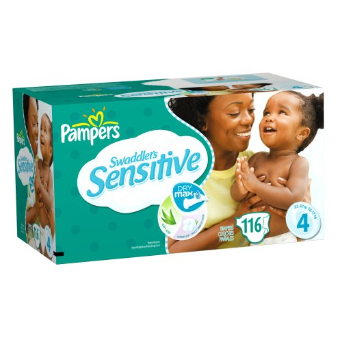 Pampers Swaddlers Sensitive Size 4 Economy Plus Pack 116