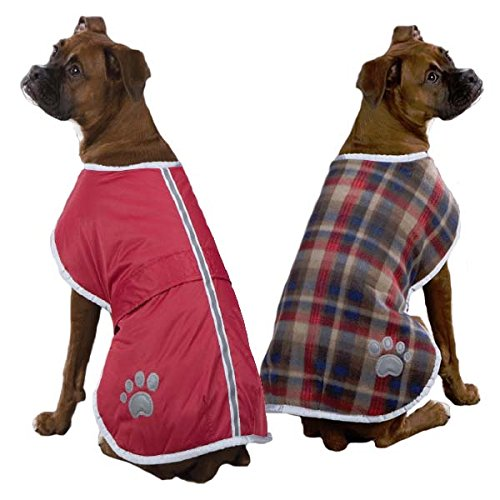 Zack & Zoey Polyester Nor'easter Dog Blanket Coat, Small, Red