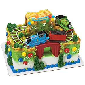 Cake Decoration Toys : Thomas the Tank Engine and Percy Cake Decorating Kit ...