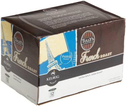 Tully's Coffee  Dark Roast, French Roast, 12-Count