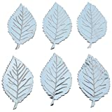Foppish Mart Large Silver Leather Leaf