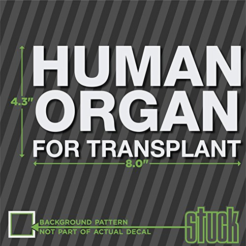 Human Organ For Transplant - Cooler Decal - 8.0