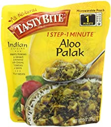 Tasty Bite Indian Entrée, Aloo Palak, 10 Ounce (Pack of 6)